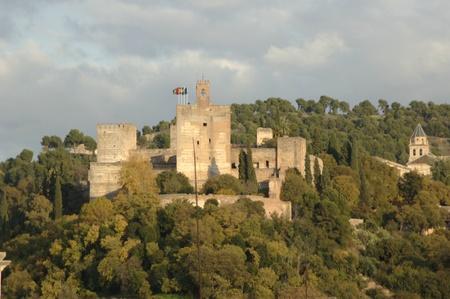 view of the alhambra of granada with the torre de la vela. 17112011