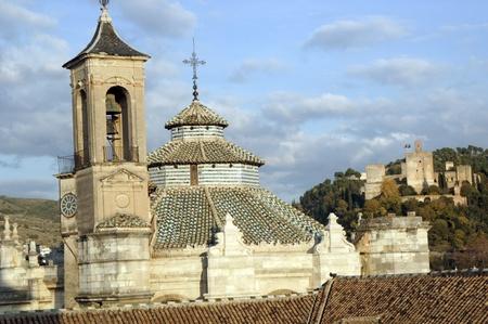 Granada vista desde el campanario de la Catedral de Granada. vista de la catedral de Granada y la Torre de la Vela de la Alhambra. 17112011