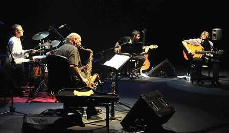 Dave Liebman y Dani Morón, en el Festival de Jazz de Granada. 12112011