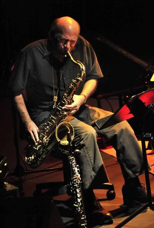 arm bands: dave liebman and dani moron in the granada jazz festival. 12112011