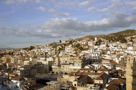 Granada vista desde el campanario de la catedral de Granada. -Barrio de la albaicin.17 11-2011