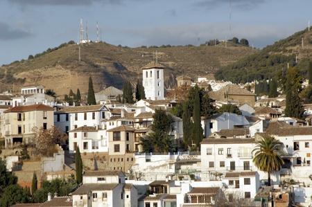 Granada vista desde el campanario de la catedral de Granada. Albaicín. 17-11-2011