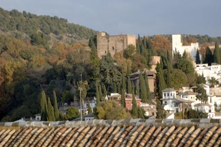 Granada vista desde el campanario de la catedral de torres Bermejas granadavista de alhambra17-11-2011 Editorial