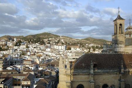 Granada vista desde el campanario de la catedral de Granada. albaicin