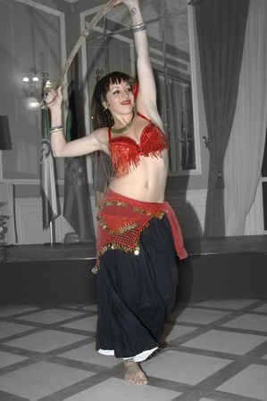 young woman dancing an oriental dance. 11-11-2011