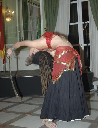 young woman dancing an oriental dance. 11-11-2011