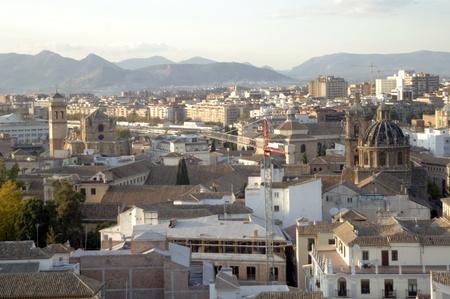 vista de Granada desde el campanario de la catedral de GranadaIglesia de San Justo y monasterio de San Jeronimo17-11-2011 Stock Photo - 11302043