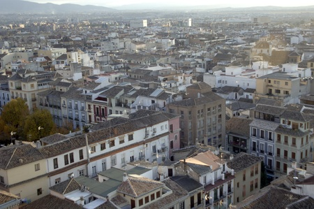view of the city of Granada from the cathedral tower. 17-11-2011 Stock Photo - 11302061