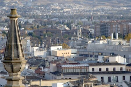 view of the city of Granada from the cathedral tower. 17-11-2011 Stock Photo - 11302037