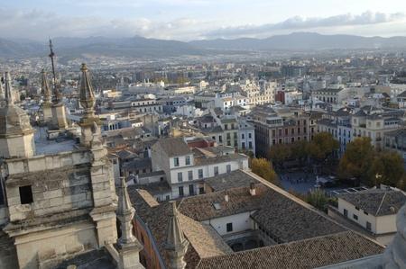 vista de la ciudad de Granada desde la torre de la catedral. 17-11-2011