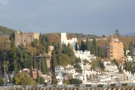 vistas a la ciudad de Granada desde la torre de la catedral. 17-11-2011