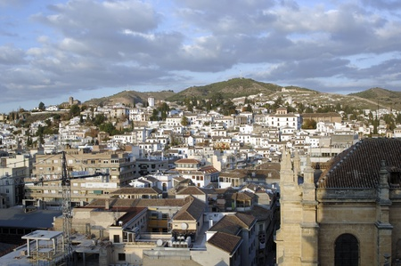 vview de la ciudad de Granada desde la torre de la catedral. 17-11-2011