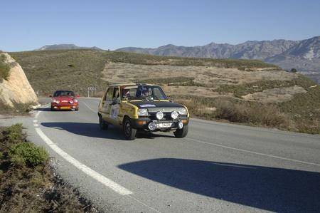 rally de coches clásicos de la primera nevada de la Sierra Nevada, entre Shell y el tramo Saleres. 26112011