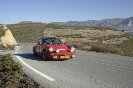 rally of classic cars of the first snow of the Sierra Nevada, between Shell and Saleres stretch. 26112011