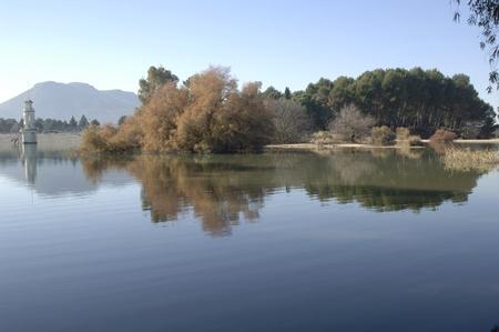 Cubillas pantano punto de vista, en la provincia de Granada. 22-12-2011