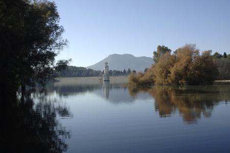 Cubillas pantano punto de vista, en la provincia de Granada Foto de archivo