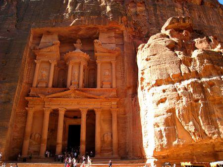 petra  jordan: The Treasury at Petra, Jordan