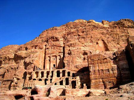 petra  jordan: Urn tomb in Petra, jordan