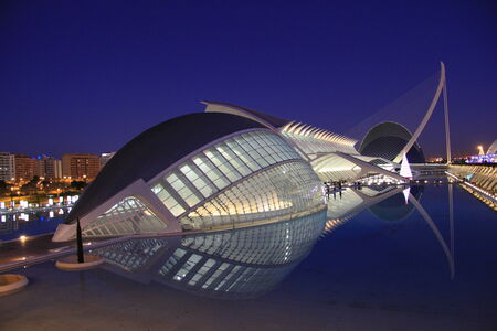 the museum: City of Arts and Sciences in Valencia