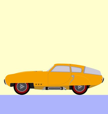 collectibles: classic car, super sport car Illustration