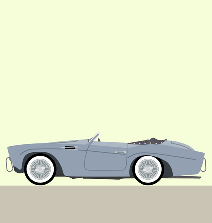 cabriolet: classic car cabriolet Illustration