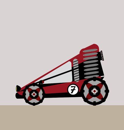 4x4: all terrain vehicle vector Illustration