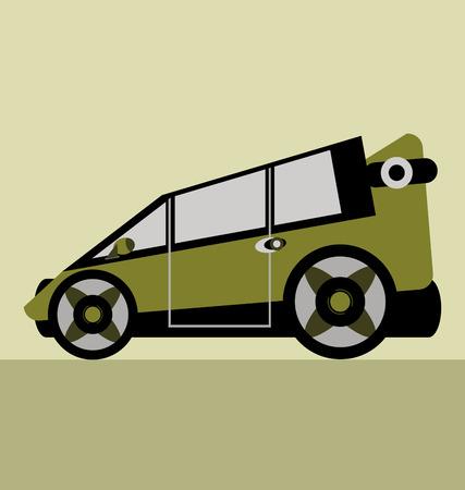 sport utility vehicle: vector family car