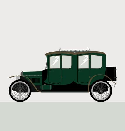 collectible: vector old car