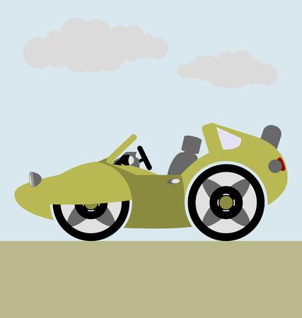 collectible: cabriolet sport car vector