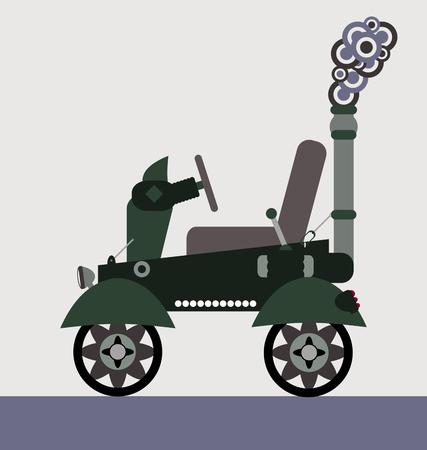MAQUINA DE VAPOR: m�quina de vapor vector