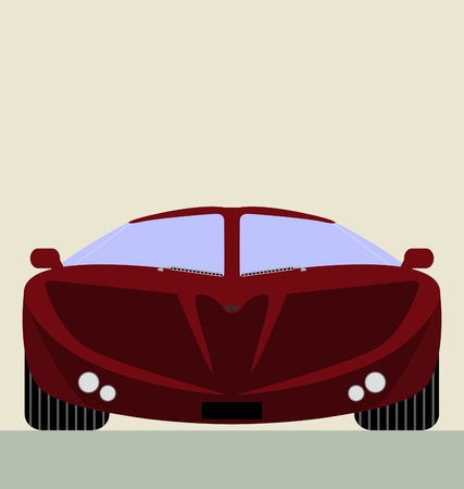 collectible: red super car