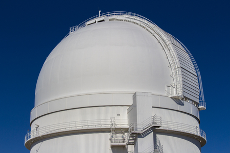 optical people person planet: astrological observatory dome, calar alto, spain Stock Photo