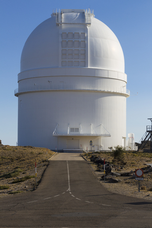 optical people person planet: telescope astrological observatory spain Stock Photo