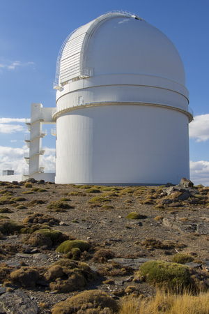 optical people person planet: telescope astrological observatory, calar alto, spain
