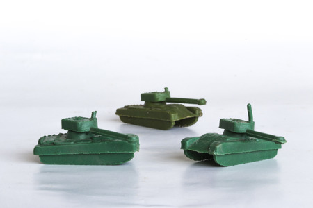toy war tanks isolated on white background, plastic tank, plastic toy war tanks