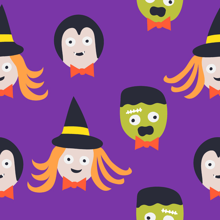 Seamless Pattern. Halloween. background Design Vector