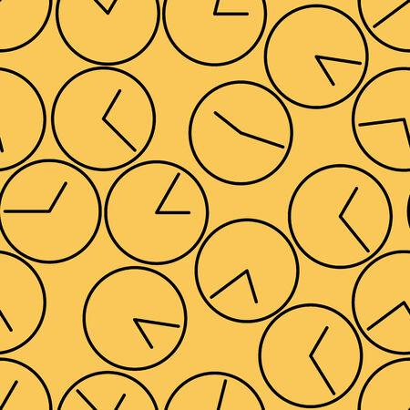 seamless pattern. clock. vector background design