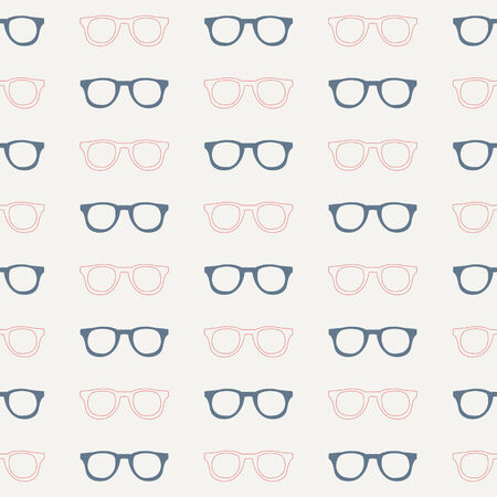 Seamless pattern.Vector background. Retro stylish texture. Repeating glasses 矢量图像