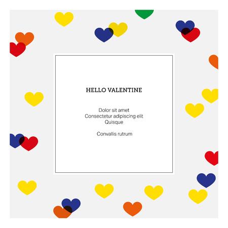 hello heart: Vector background. Hello valentine with heart. Love card design template Illustration