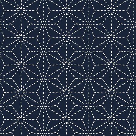 naadloze patroon, de Japanse kunst achtergrond ontwerp voor stof en decor Stock Illustratie
