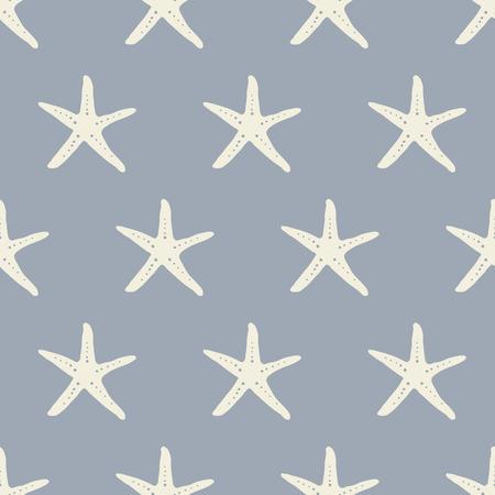 stella marina: seamless, stelle marine disegno vettoriale arte sfondo per il tessuto e l'arredamento