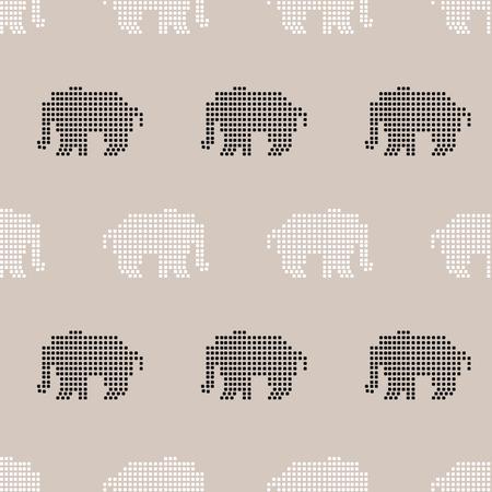 seamless pattern, elephant art  background design for fabric and decor Illusztráció