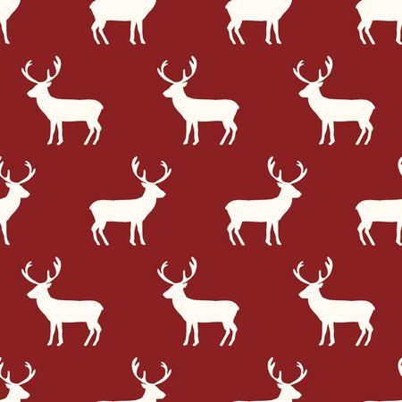 renna: seamless, renne disegno vettoriale arte sfondo per il tessuto e l'arredamento