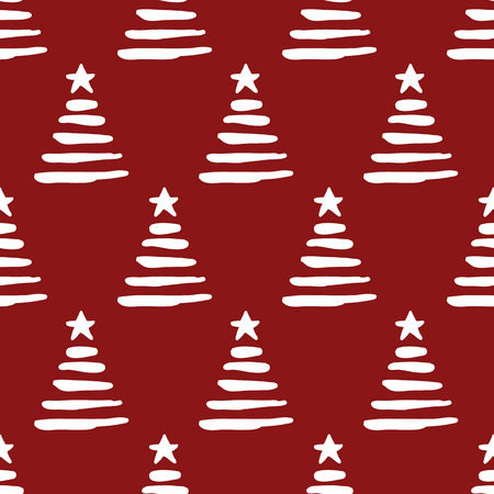 christmas wallpaper: seamless pattern, christmas tree art  background design for fabric and decor Illustration