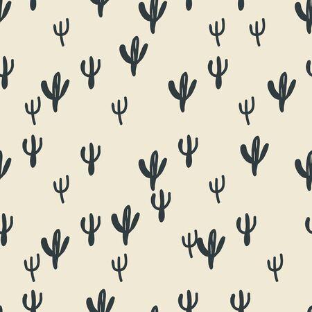 seamless, conception cactus art de fond pour le tissu et la décoration Vecteurs