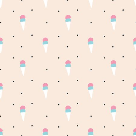ice surface: seamless pattern, ice cream vector art  background design for fabric and decor