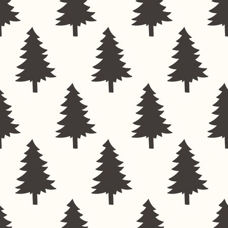 forrest: seamless pattern, forrest art  background design for fabric and decor Illustration