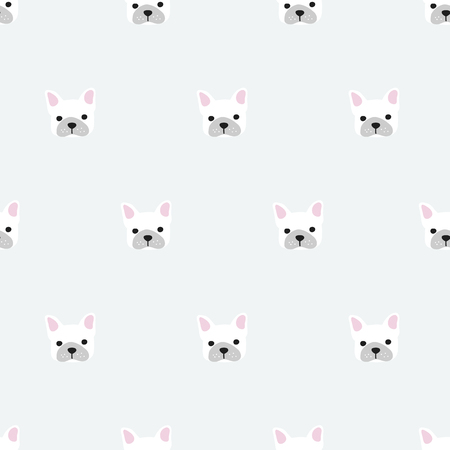 french bulldog: seamless pattern, french bulldog vector art  background design for fabric and decor