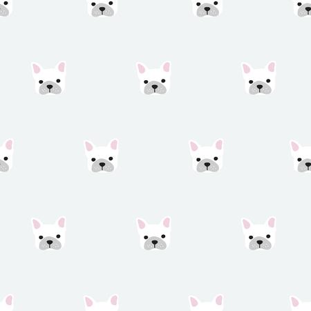 seamless, vecteur de bulldog français art design fond pour le tissu et la décoration
