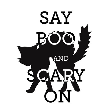 halloween, say boo and scary on. template design